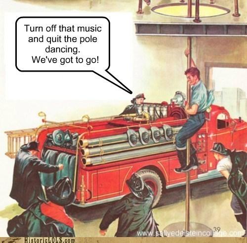 dance fireman firetruck pole - 6255959296