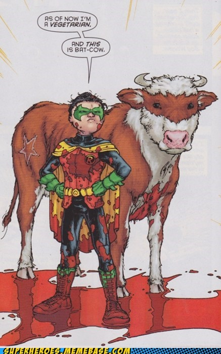 bat cow,batman,damian,robin,Straight off the,Straight off the Page