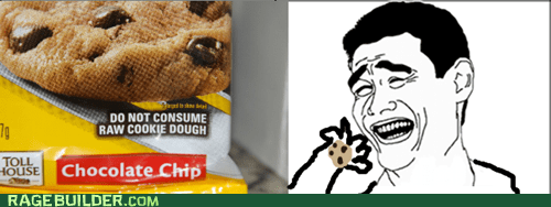 cookie dough,Rage Comics,raw,yao ming