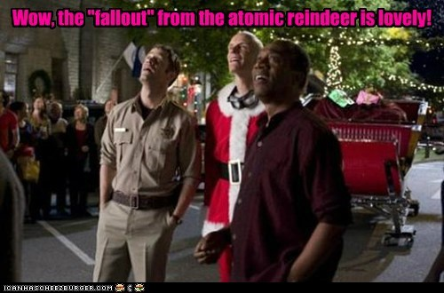 atomic,Colin Ferguson,eureka,fallout,henry deacon,jack carter,joe morton,looking up,reindeer,WoW