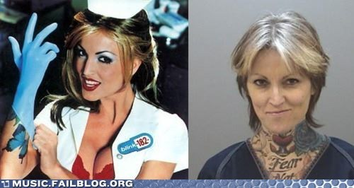 album art blink 182 cover art enema of the state Then And Now