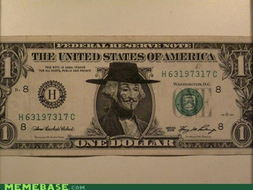 dollar Occupy Wall Stre Occupy Wall Street v for vendetta washington - 6256670464