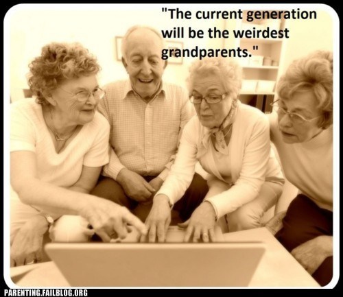computers grandparents old people weird - 6256725760