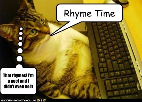 Rhyme Time That rhymes! I'm a poet and I didn't even no it