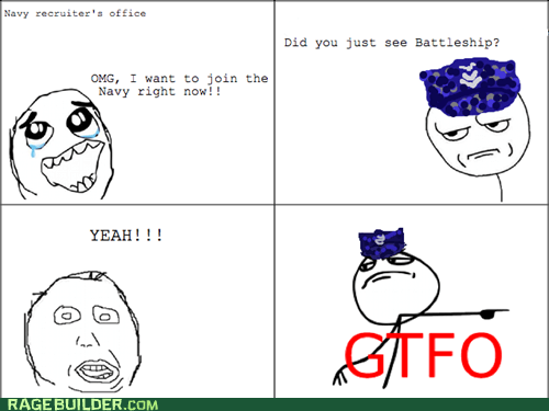 battleship,gtfo,navy,Rage Comics,summer blockbusters
