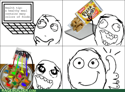 colors,food,healthy,Rage Comics