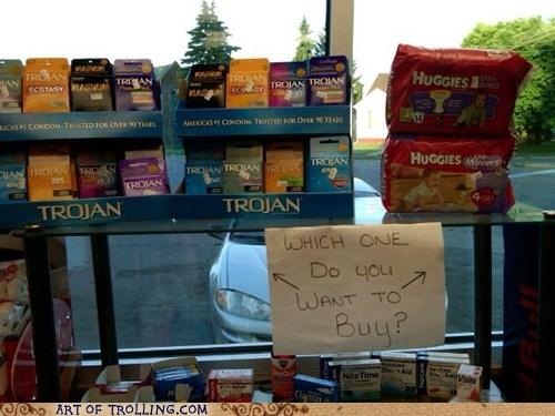 birth control condoms diapers IRL - 6257049344
