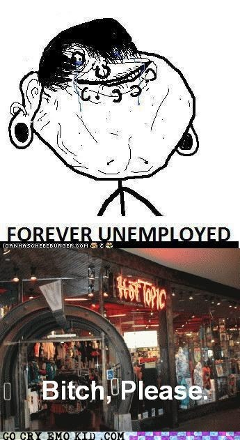 emolulz forever alone hot topic unemployed