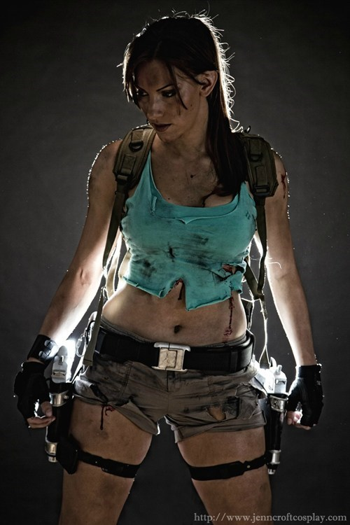 after battle,cosplay,lara croft,Tomb Raider