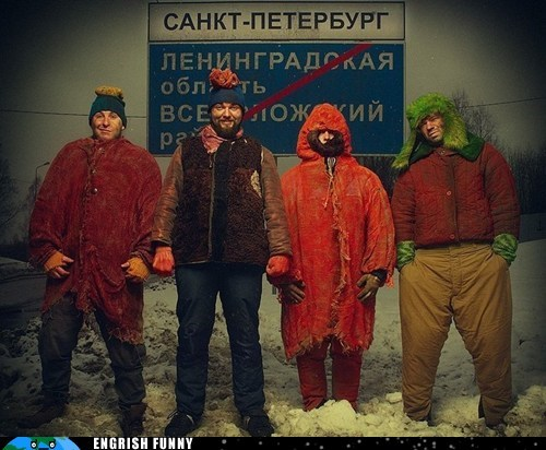 cartman comedy central Kenny kyle russia russian south park South Park stan