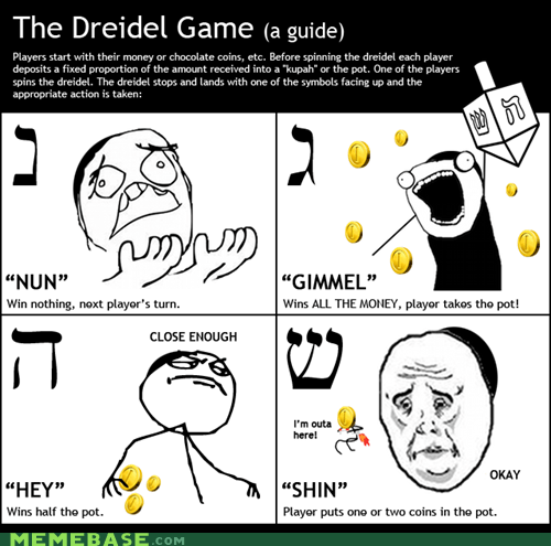 dreidal game judaism Rage Comics - 6257334016