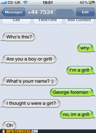 george foreman,girl,grill,iPhones,typos