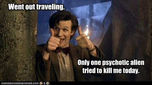 alien doctor who good day kill Matt Smith only one psychotic success the doctor thumbs up traveling