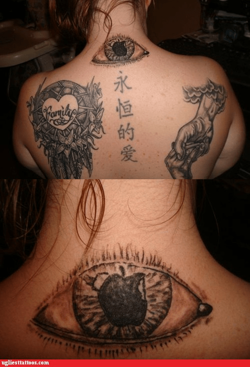 apple of my eye back tattoos creationism dream catcher - 6257532416