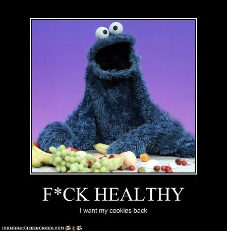Cookie Monster demotivational funny Hall of Fame Sesame Street - 6257566208