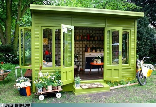 shack shed tiny yard - 6257582848