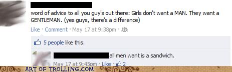 facebook gentlemen men relationships sandwich