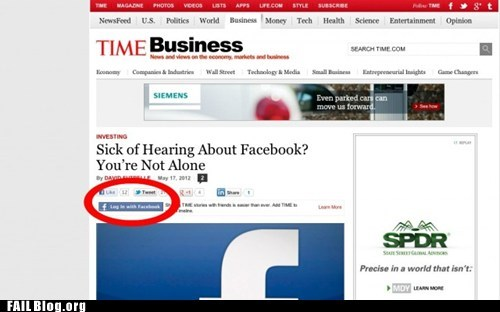 article facebook time business