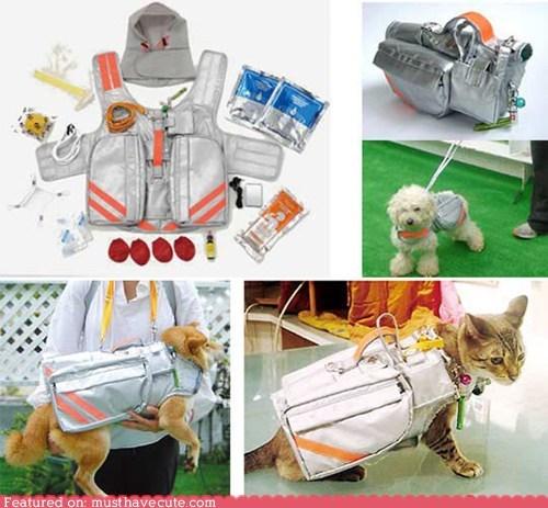 emergency evacuation jacket pets supplies
