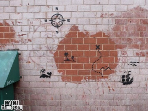 banksy,graffiti,hacked irl,Street Art,treasure island,treasure map
