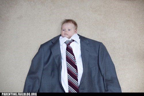 baby,huge body,suit,tie,tiny head