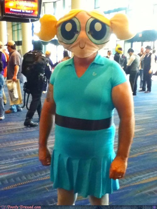 cartoons,cosplay,costume,Hall of Fame,manly,powerpuff girls