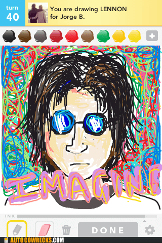 draw something,imagine,john lennon,the Beatles