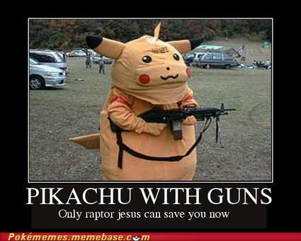 arceus guns pikachu raptor jesus the internets - 6258028032