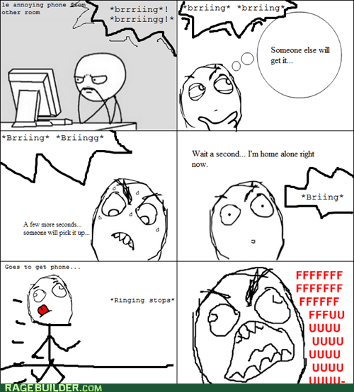fu guy,late,phone,Rage Comics