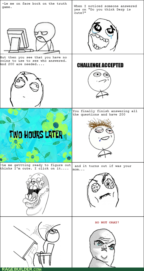 Challenge Accepted,facebook,parenting,Rage Comics