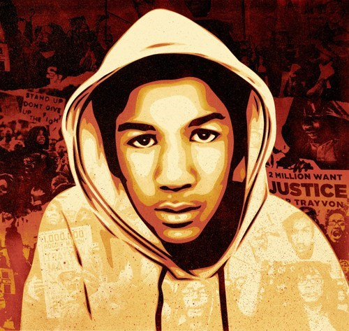 ebony Photo shepard fairey Trayvon Martin