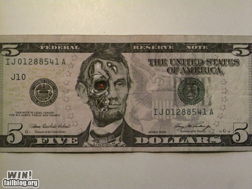 Abe Lincoln,cash,hacked irl,money