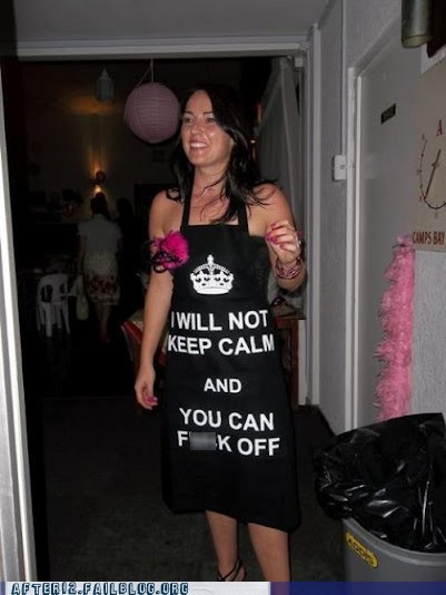 apron chefs-apron i will not keep calm keep calm keep calm and keep calm and carry on