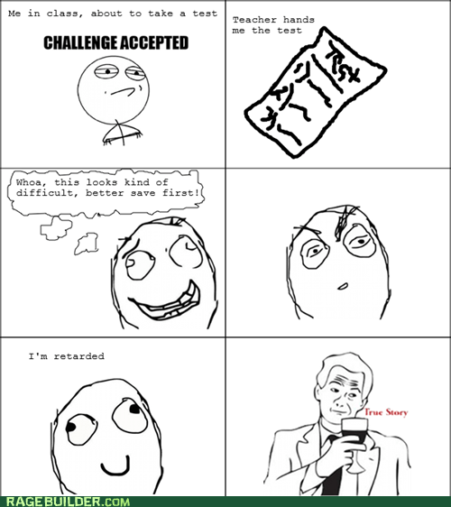 Rage Comics save test truancy story video games