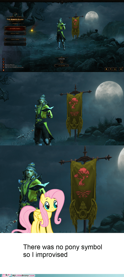 act 1 banner crossover diablo III fluttershy video games - 6258542336