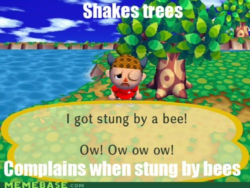 animal crossing,bees,nintendo,stung,trees