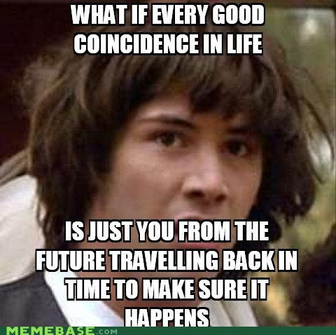 coincidence,conspiracy keanu,future,time travel