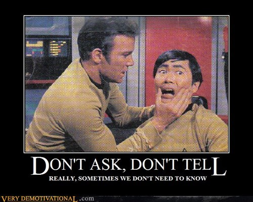 dont-ask,dont tell,hilarious,kirk,Star Trek,sulu