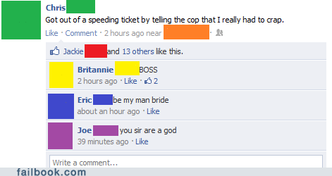 cops speeding tickets driving police failbook g rated - 6258833920
