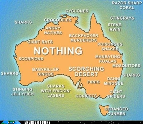 adelaide australia brisbane canberra dannii minogue desert engrish funny g rated Hall of Fame jellyfish melbourne outback perth sharks steve irwin sydney tasmania