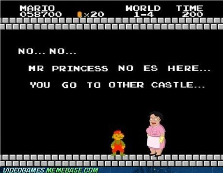 family guy,mario,princess is in another ca,princess is in another castle,spanish