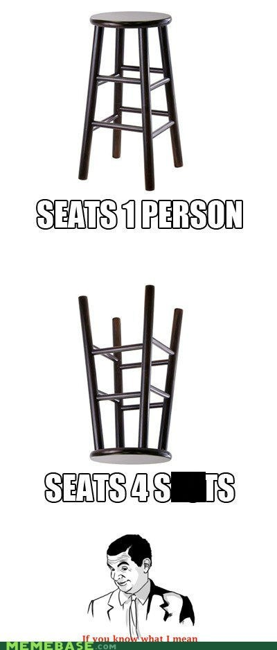 if you know what i mean people person Rage Comics seat stool - 6259388672