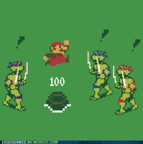 crossover mario teenage mutant ninja turtles TMNT - 6259435776