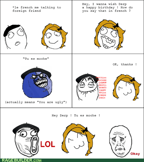 french,Okay,Rage Comics,ugly