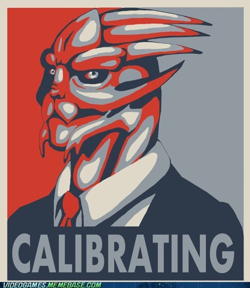 calibrating Garrus mass effect meme Obama poster - 6259661568