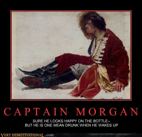 angry captain morgan drunk hilarious - 6259719424