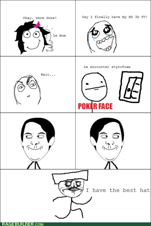 me gusta poker face Rage Comics styrofoam - 6259951360