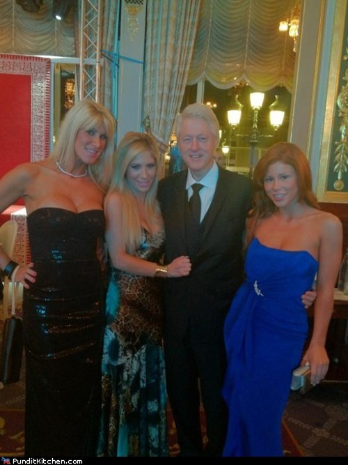 bill clinton,democrats,Hall of Fame,political pictures,pr0n stars