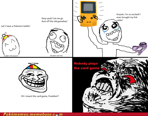 card game,link cable,Pokémon,rage comic,Rage Comics