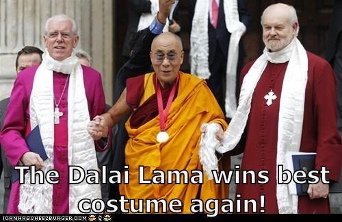 The Dalai Lama wins best costume again!